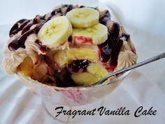 Raw PB & J Banana Trifle from Fragrant Vanilla Cake