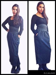 Moschino Jeans_Long Skirt_ Gonna Lunga _ 1980s Italian Fashion_Made in Italy