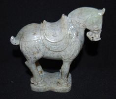 RareChinese Tang Dy Old Jade Carved Horse figure # 2