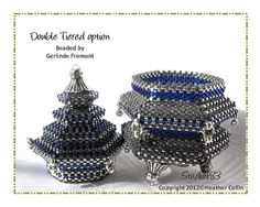 Beading Pattern Peyote Stitch Beaded Container Box by Studio183