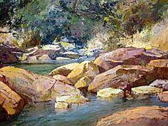"Titta Fasciotti - ""River Rocks"" River Rocks, 5th Avenue, Water, Artist, Painting, Outdoor, Inspiration, Gripe Water, Outdoors"