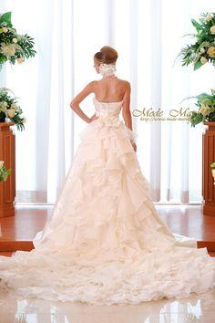 バックティアード♪2WAY Aライン_kj(150434)/Mode Marie 本店のAライン/レンタルウエディングドレス「結婚準備室」