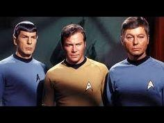 """Spock (Nimoy), Kirk (Shatner) and Bones (Kelley) from the original series. Or as it was known back then, simply """"Star Trek"""" Star Trek Humor, Star Wars, Star Trek Tos, Spock, Xmen, Star Trek Original Series, Sr1, William Shatner, Star Trek Universe"""