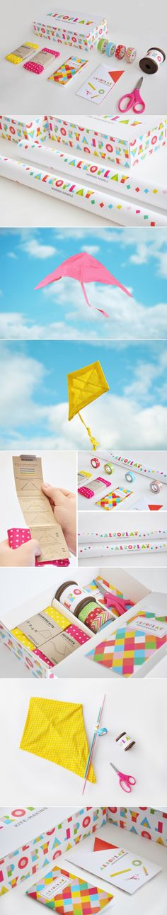 Aeroplay Kites — The Dieline - Branding & Packaging Design - created via https://pinthemall.net http://www.thedieline.com/blog/2014/7/15/aeroplay