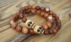 Skull bracelet/ skull jewelry/ stretch bracelet/ skull beads/ bracelet/ skulls