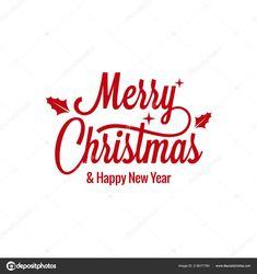 Letras vintage de feliz Navidad con signo de Navidad sobre ... Vintage Christmas, Merry Christmas, Vintage Lettering, Happy New Year, Illustration, White People, Lyrics, Merry Little Christmas, Wish You Merry Christmas