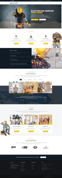 Electrician - WordPress Theme, Corporate Best Picture For Web Design simple For Your Taste You are looking for something, and it is going to tell you exactly what you are looking for, and you didn't f Creative Web Design, Web Design Tips, Web Design Services, Page Design, Design Design, Blog Design, Design Agency, Design Ideas, Website Layout