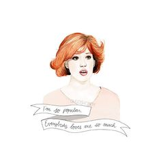 Molly Ringwald in the Breakfast Club Claire watercolour portrait PRINT (19 AUD) ❤ liked on Polyvore featuring fillers, drawings, art, doodle, backgrounds and scribble