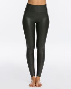 Faux Leather Legging Petite - Black - 3X