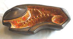 Large Vintage Ceramic Ashtray