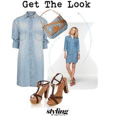 Denim Dress  #denimdress #denim #jeans #platforms @Kenneth Robinson #springsummer2014 #springessentials #springdresses #fashion #lookbook #getthelook