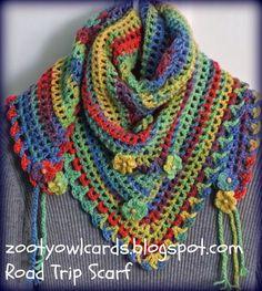 Le Arti di Minerva: Sciarpa triangolare all'uncinetto | Triangle scarf crochet free Pattern