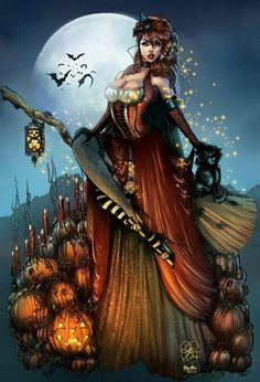 Us Seller Sexy Halloween Witch Pumpkins Diamond Painting Art Kit Round Drills Partial Drill Combined S H To Save Us Seller Sexy Halloween Witch Pumpkins Diamond Painting Etsy Fantasy Witch, Witch Art, Dark Fantasy, Fantasy Art, Halloween Pictures, Halloween Art, Vintage Halloween, Halloween Witches, Witch Pictures
