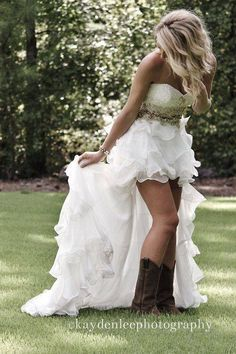 Country dress, would love to show off the boots!