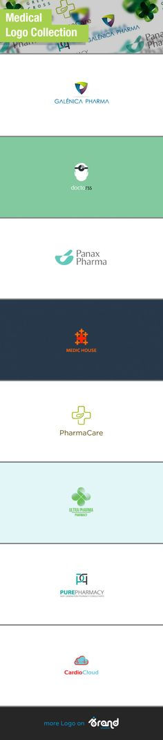Wonderful Logos for Pharma and Medical Projects #inspiration #logos