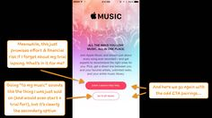 Apple just threw its hat into the music streaming ring. Will its onboarding make or break its ability to oust the likes of Spotify, Rdio, and others? Love Promise, Ux Design, Apple Music, Presentation, Songs, News, Song Books, Ui Design