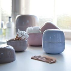Keep them on your desk, in the bathroom or on any shelf you prefer, the Bellino Storage Jars by Kahler will always look like a decorative piece of storage.