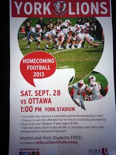 HOMECOMING THIS SATURDAY! First 500 people will receive a FREE T-Shirt!