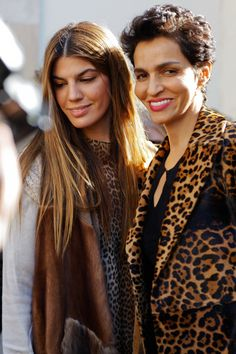 Farida Khelfa and Bianca Brandolini D'Adda