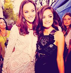 Leighton Meester and Lucy Hale