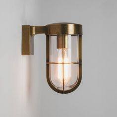 Astro Lighting Cabin Single Light Outdoor Wall Fitting In Antique Brass Finish £162.50