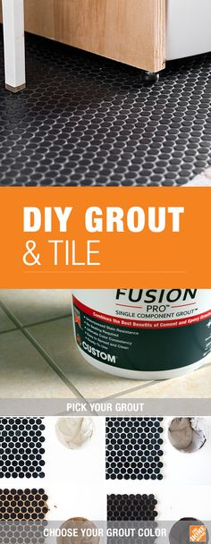 Customize the look of your next DIY tile project with stain proof Fusion Pro® Grout from The Home Depot. With an array of on-trend color options you can get the perfect look in any room. Click through to learn more about this easy-to-use grout at The Home Do It Yourself Furniture, Do It Yourself Home, Diy Furniture, Home Renovation, Home Remodeling, Up House, Home Repairs, Living At Home, Diy Home Improvement