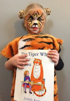 Alternative World Book Day Costume - The Tiger who Came to Tea. Easy to recreate - just add a tea cup! Easy Book Week Costumes, Book Costumes, World Book Day Costumes, Teacher Costumes, Family Costumes, Costume Ideas, Kids Book Character Costumes, Book Character Day, Children's Book Characters