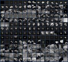 Estas 210imágenes muestran las múltiples vistas que Rosetta obtuvo del cometa 67P/Churyumov-Gerasimenko entre julio de 2014 y septiembre de 2016.