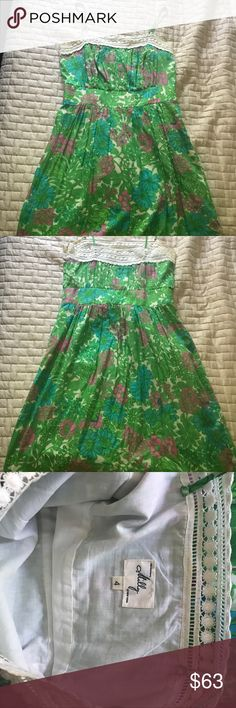 Milly of New York Dress. Green floral Milly of New York Dress. Milly of New York Dresses Midi