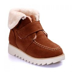 Casual Suede and Velcro Design Women's Snow Boots; I HAVE GOT TO GET ME SOME OF THESE!!!