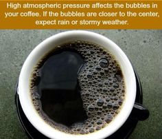 Hmmm funny ya know. Right now my dad is drinking his coffee and there's a huge thunderstorm just upon us. And guess what... The bubbles are front and center in the middle