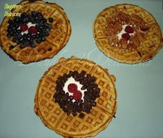 Home-made Eggless Waffles    Made these last weekend - replaced half the milk with buttermilk, YUM!