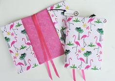 This beautiful flamingo print cover will accommodate your A5 Hobonichi inserts, leuchtturm 1917 and A5 journal or notebook.