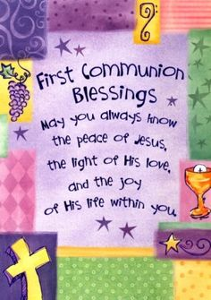 First Communion Blessings Greeting Card (Abbey Press 5150-2T)