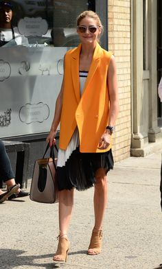 Look of the Day - July 2014 - Olivia Palermo オリビア・パレルモ Olivia Palermo Street Style, Look Olivia Palermo, Olivia Palermo Outfit, Olivia Palermo Lookbook, Day To Night Outfits, 30 Outfits, Celebrity Outfits, Celebrity Style, Ärmelloser Mantel