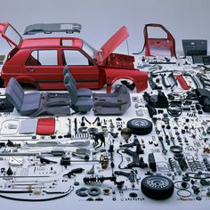 Vw Golf Mk2 Disassembled iPad wallpaper