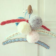 Granny chic hangers & pompoms
