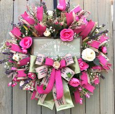 Tulle Wreath, Floral Wreath, Easter Wreaths, Christmas Wreaths, Summer Wreath, Spring Wreaths, White Ranunculus, Magnolia Wreath, Fall Decor