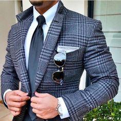 Suit Style | www.ScarlettAvery.com https://www.thesterlingsilver.com/product/giorgio-armani-ga-860s-aviator-sunglasses-brown-grey-tortoise-effect-gradient-brown/