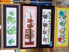 Adorable idea. Handprint art w/ the whole family. #family #art