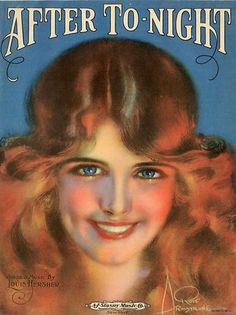 Gorgeous 1920 After to Night Sheet Music Rolf Armstrong Cover   eBay