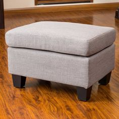 Best Selling Home Decor Furniture Ora Fabric Ottoman - Ash Gray - 239317
