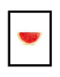 Download and print this free printable Watermelon Watercolor wall art for your home or office!