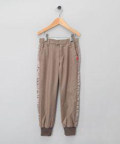 Beige Woollen Trousers - Girls