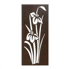 Gorgeous irises bursting from the ground and reaching toward the late-spring sun are captured artistically in rustic metal. This rectangular wall decor will be a welcome touch of modern style to any room of your home. Iris In Bloom Wall Art by Rustica House. #myRustica