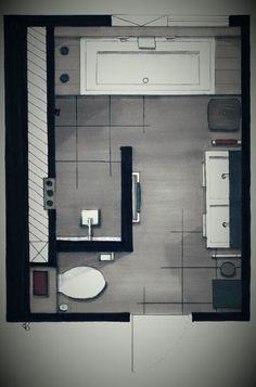 For Edsall Street main bathroom (but with door for the toil .-Für Edsall Street Hauptbadezimmer (aber mit Tür für die Toilette) – Bildneue For Edsall Street main bathroom (but with door for the toilet) – bathroom - Bathroom Floor Plans, Bathroom Flooring, Small Bathroom Plans, Bathroom Layout Plans, Bad Inspiration, Bathroom Inspiration, Bathroom Ideas, Bathroom Renovations, Remodel Bathroom