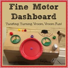 LalyMom Kids Crafts and Activities: Fine Motor Activity Dashboard for Kids