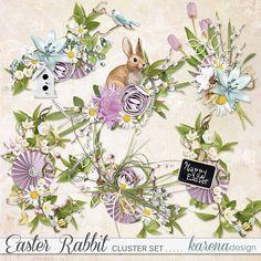 Digital Scrapbooking, Rabbit, Easter, Shop, Collection, Design, Bunny, Rabbits, Bunnies