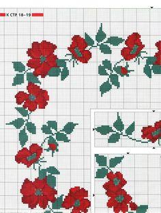 Roses border in cross stitch Gallery.ru / Фото #2 - ***** - celita