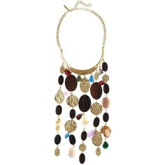 Oscar de la Renta Mixed-Material Bold Hammered Disc Necklace (79.460 RUB) ❤ liked on Polyvore featuring jewelry, necklaces, pendant necklace, wooden necklaces, collar necklace, wooden pendant necklace and oscar de la renta necklace